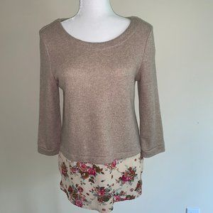 Anthropologie Sunday In Brooklyn Layered Sweater M